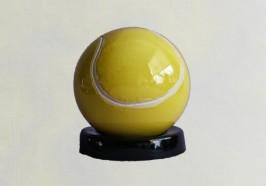 Tennisbal met zwarte voet groot model